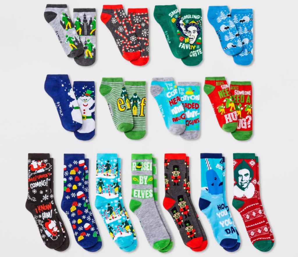 women's Elf themed socks