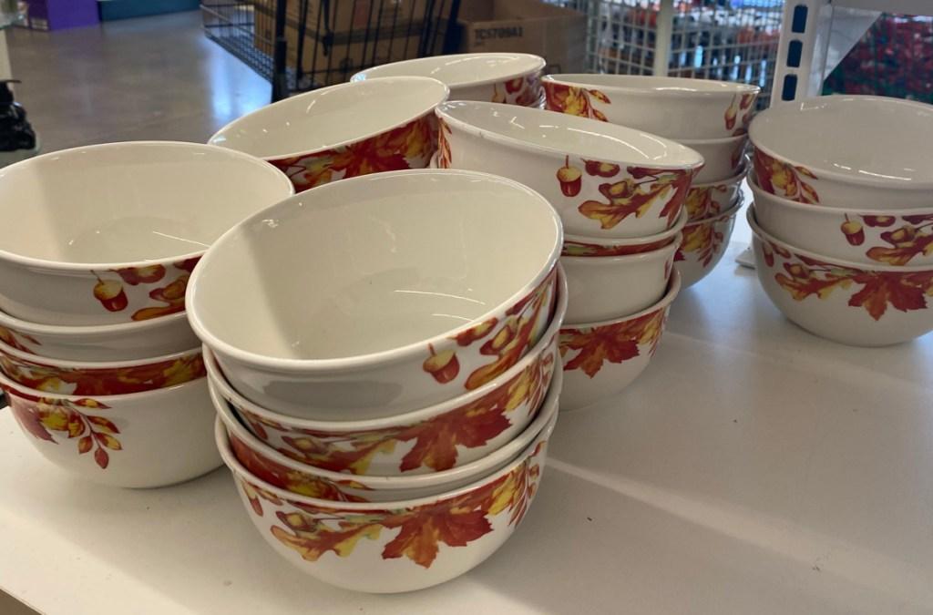 Fall Leaves Ceramic 6″ Bowls-4