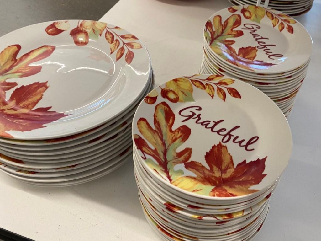 Fall Leaves Ceramic Dinnerware 10.5″ Plate