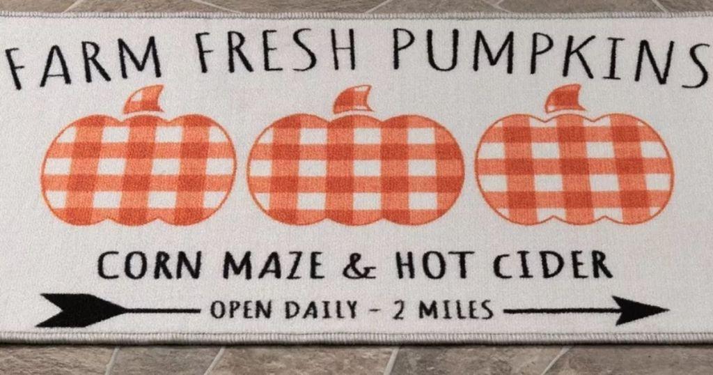 Farm Fresh Pumpkins Rug