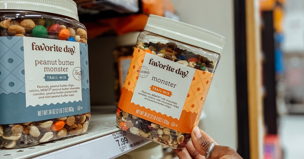 favorite day monster and peanut butter monster trail mix