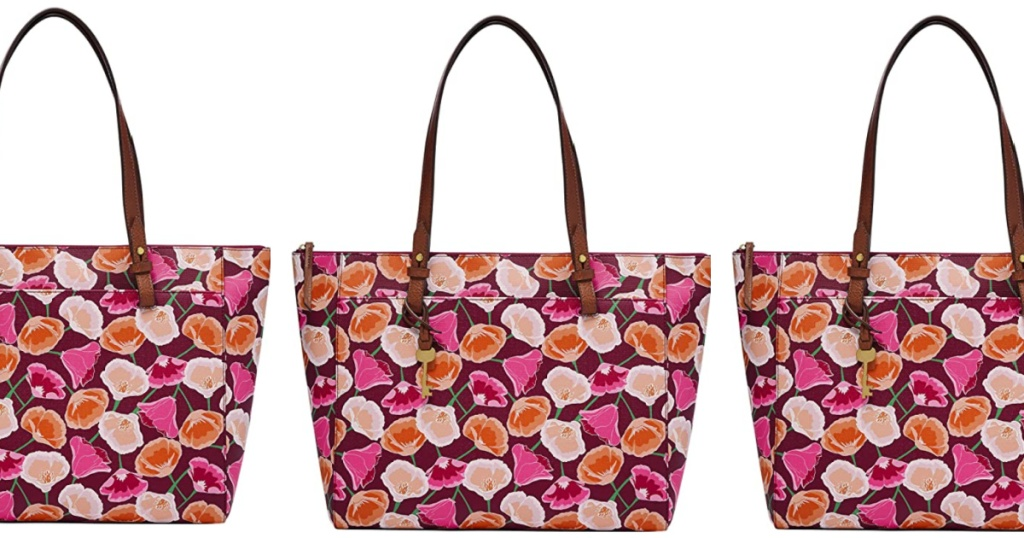 3 fossil rachel floral totes