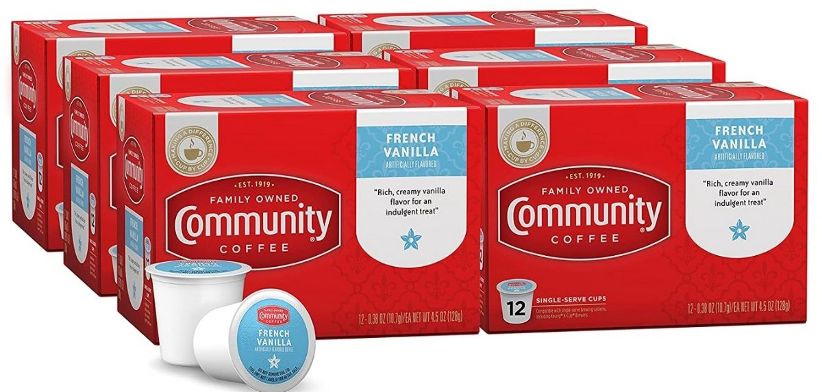 6 boxes of 12 community coffee k cups french vanilla