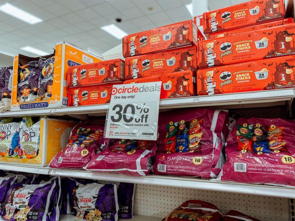 display of Frito-lay Variety Packs at Target