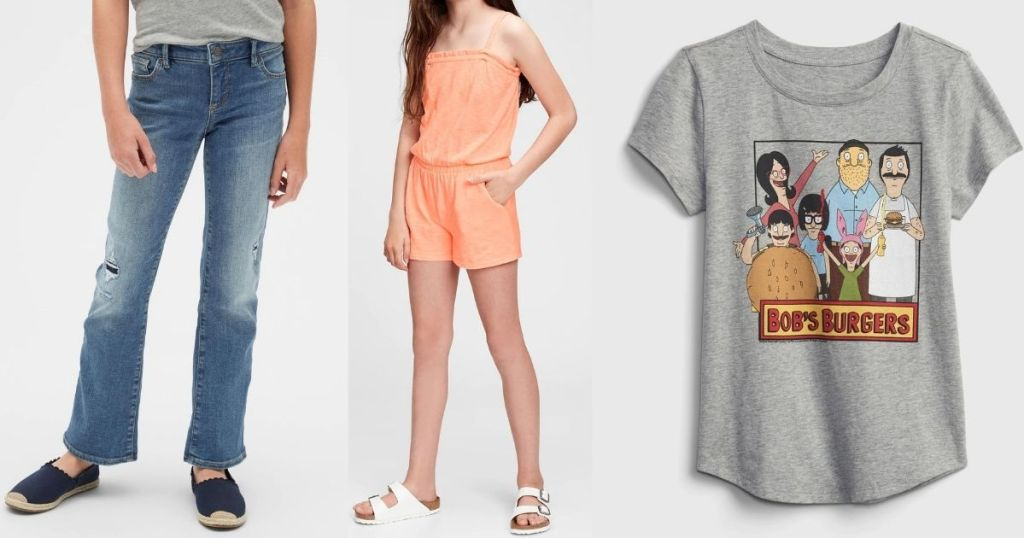 GAP Girls Jeans, Romper and Shirt