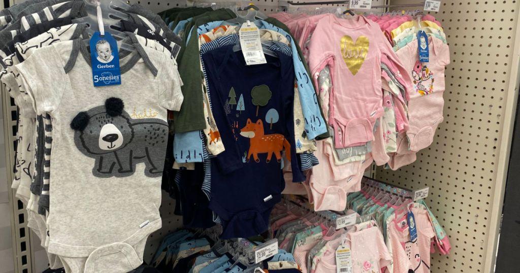 baby clothing on rack