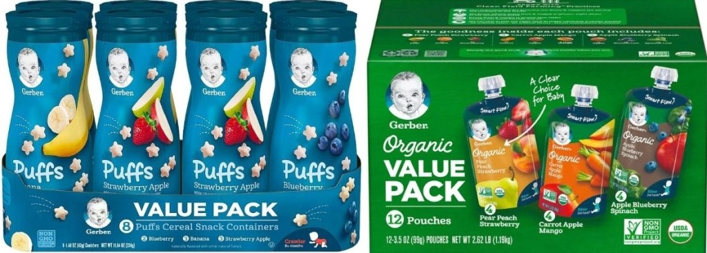 Gerber Puffs and Pouches