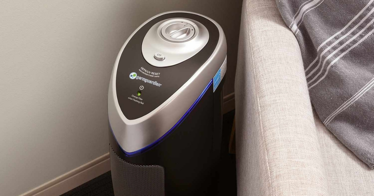 """Germ Guardian 22"""" True HEPA Filter Air Purifier w/ UV Light Sanitizer"""