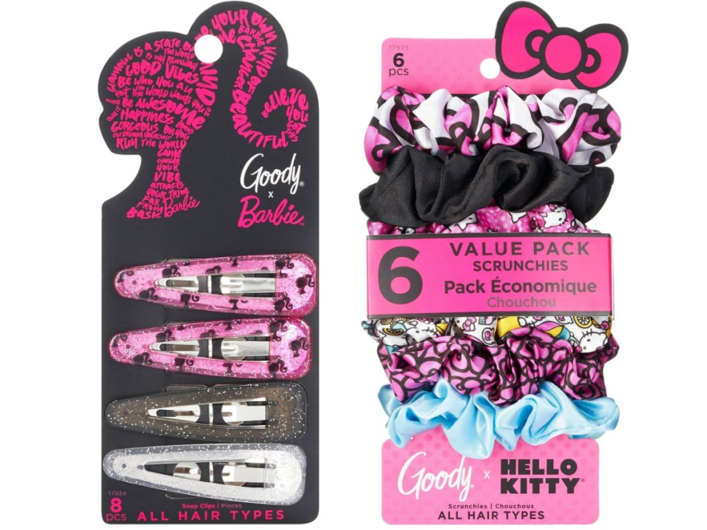 Goody Barbie & Hello Kitty hair accessories
