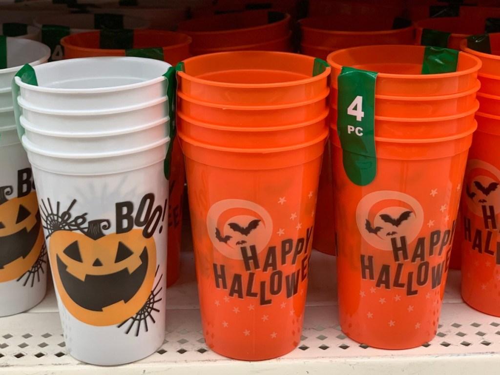 Halloween Plastic Cups 4 Pack