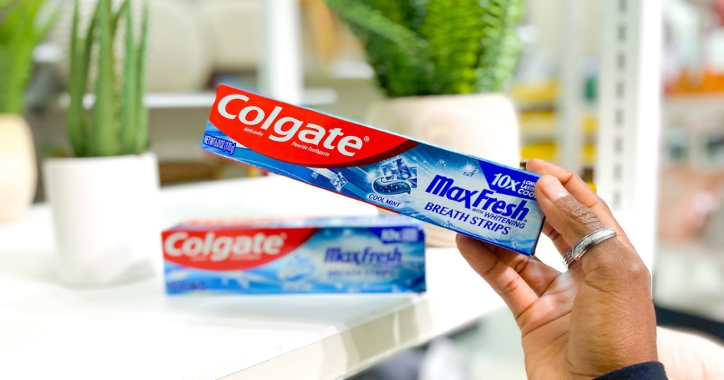 Colgate Max Toothpastes Lone 49¢ At Mark (conscionable Use Your Telephone)