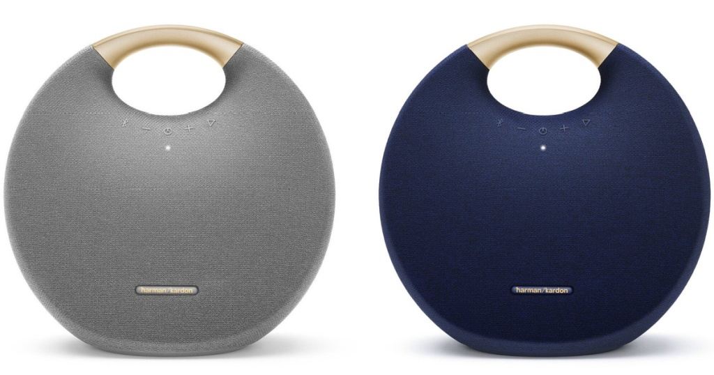 stock images of harman kardon portable speakers