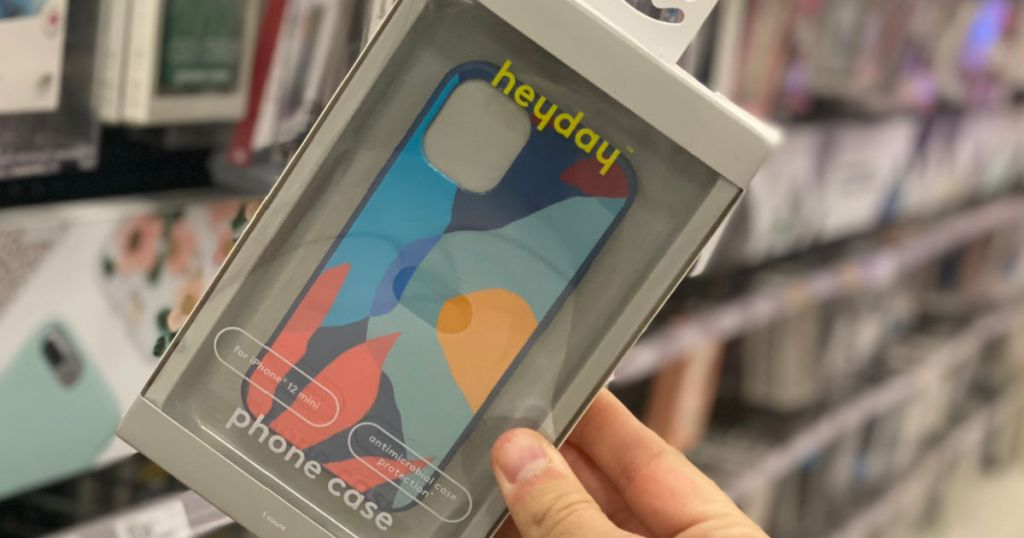 hand holding multicolor phone case