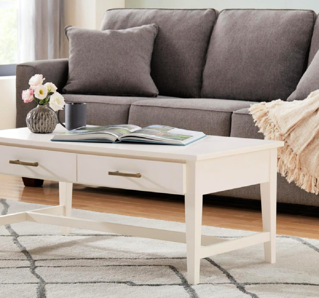 Home Decoratos Collection Bellamy Large Rectangle Wood Coffee Table