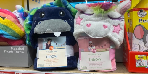 Huntington Home Kids Hooded Plush Throw Only $8.99 at ALDI