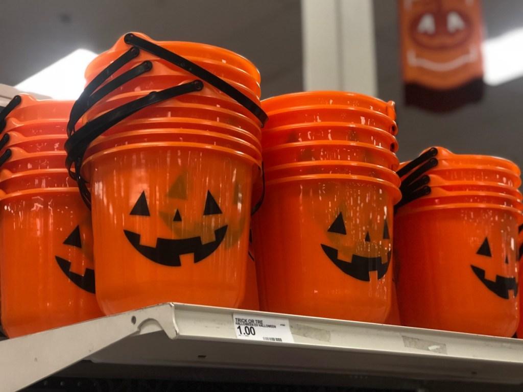 Hyde & EEK! Boutique Pumpkin Stackable Halloween Trick or Treat Bucket