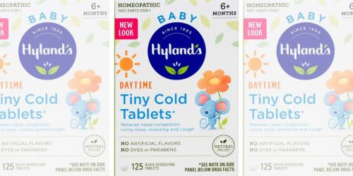 Hyland's Baby Cold Tablets 125-Count Only $3.24 on Amazon (Regularly $10)