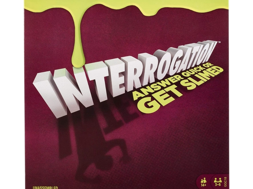 interrogation trivia game with slime from walmart
