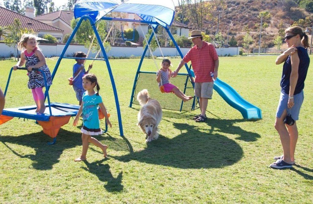 IronKids Inspiration 250 Fitness Playground Metal Swing Set