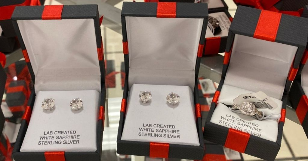 three jewelry gift boxes