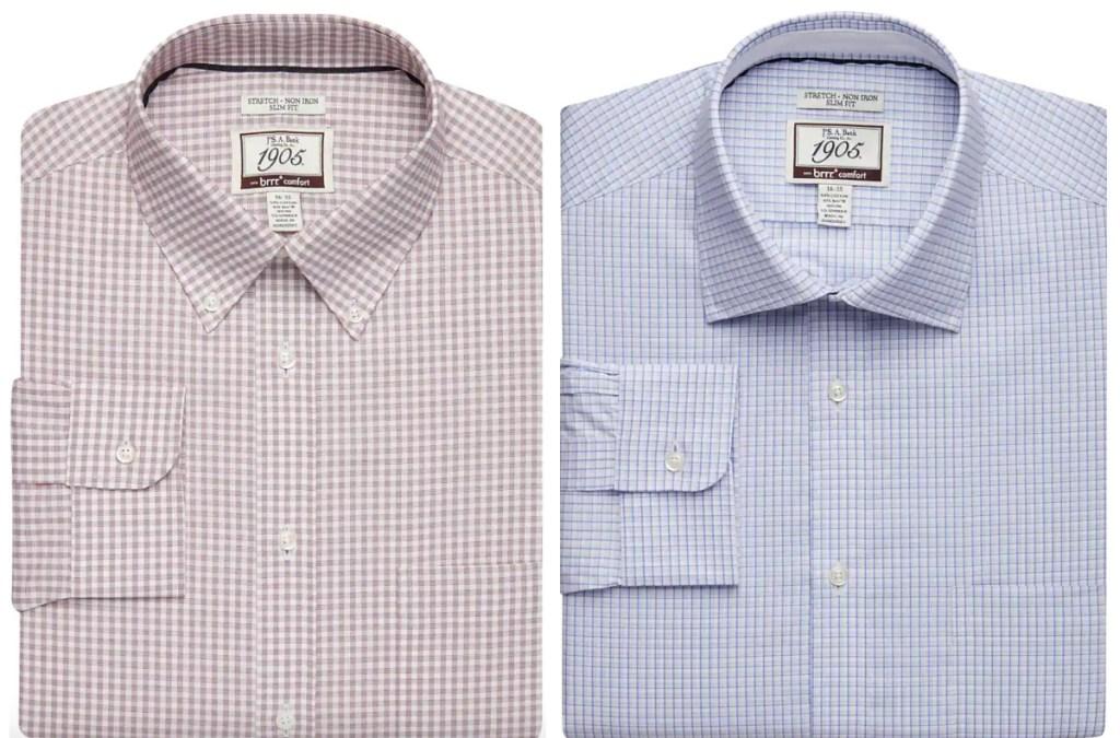 2 men's jos a banks dress shirts