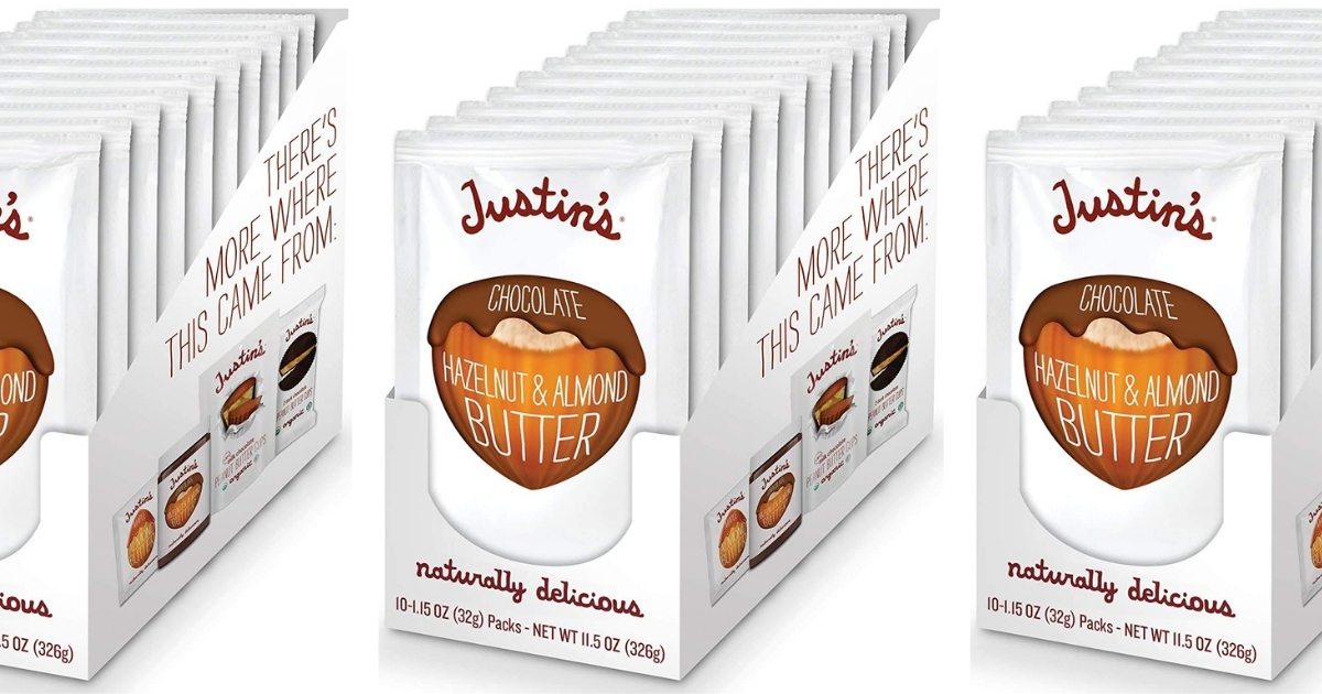 Justin's Chocolate Hazelnut & Almond Butter Squeeze 10-Pack