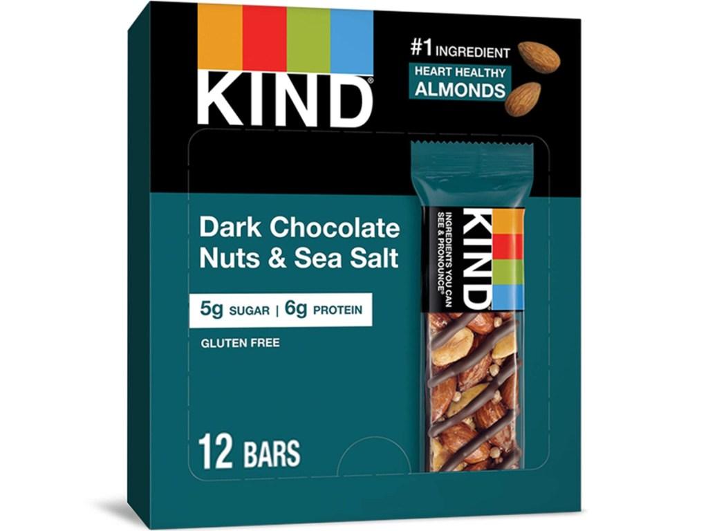 KIND Dark Chocolate Nuts & Sea Salt 12-Count Snack Bars