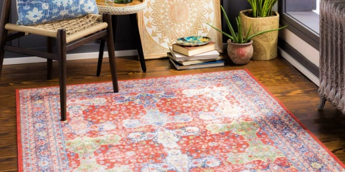 Machine Washable 5×7 Area Rugs from $78.63 Shipped (Regularly $196) | Great for Homes w/ Kids & Pets