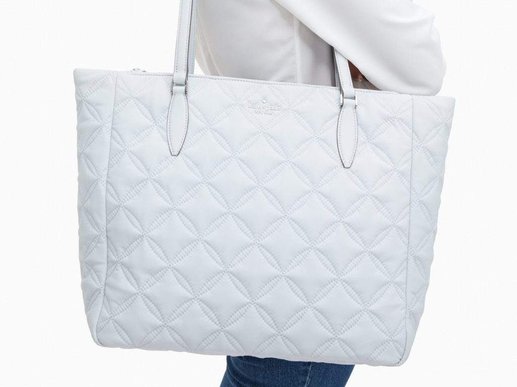 Kate Spade Jae Quilted Large Tote in Moonlight