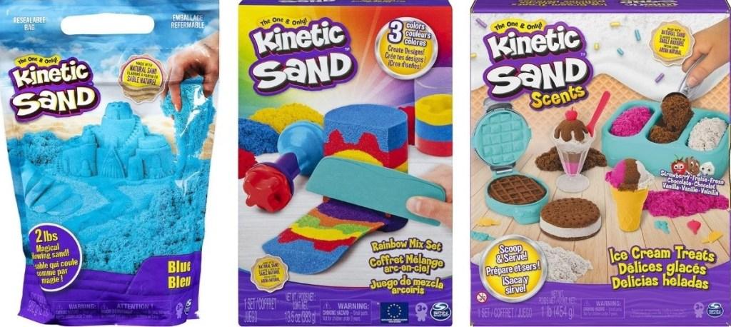 three kinetic sand sets