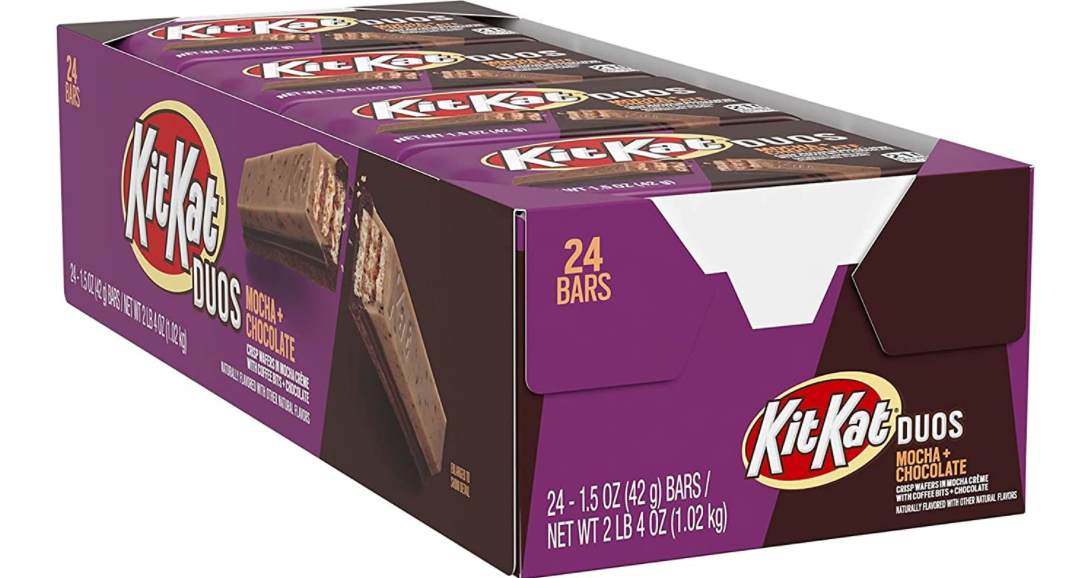 KitKat Duos Mocha Crème and Chocolate Wafer Candy 24-Pack