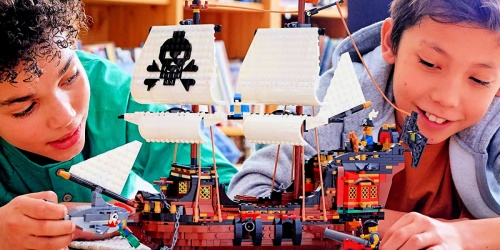 LEGO 3-in-1 Pirate Ship 1,260-Piece Building Kit Only $84.99 Shipped (Regularly $100)