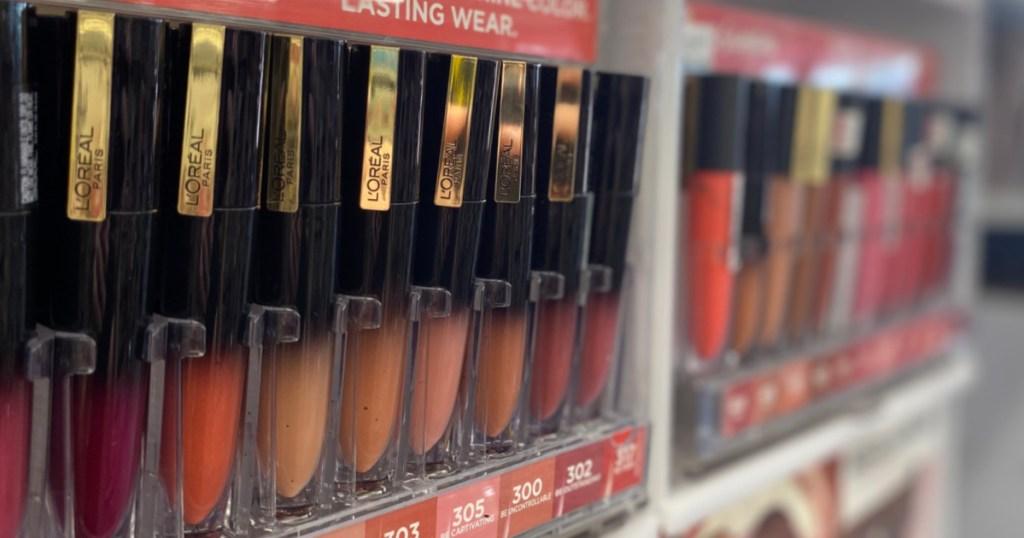 lipstick on shelf