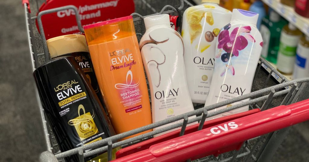 shampoo and body wash in basket