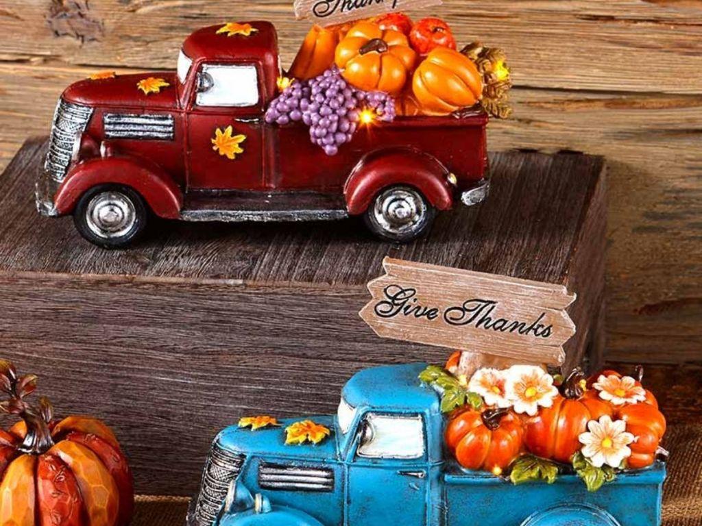 Harvest trucks