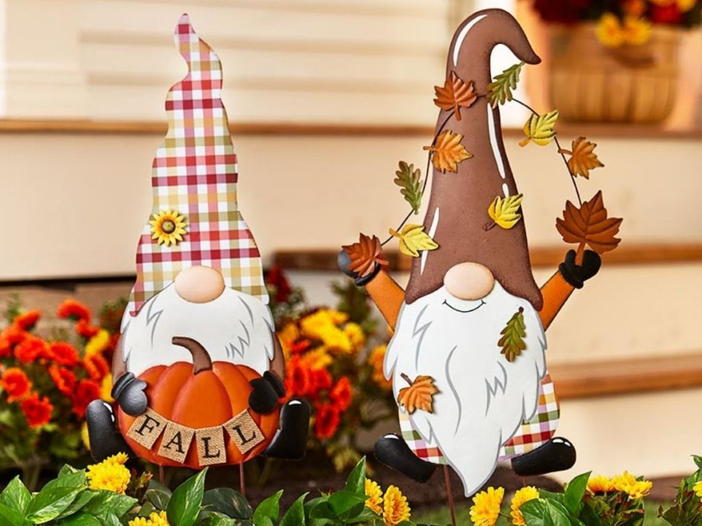 Fall Gnomes in front yard