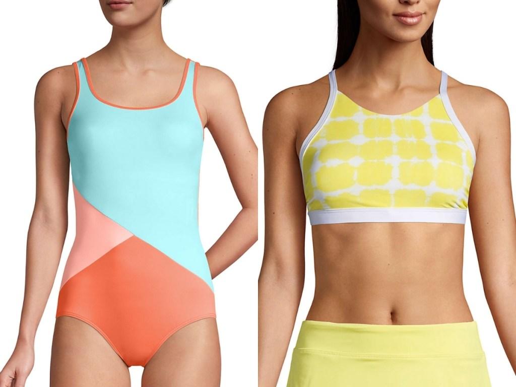 lands' end women's swimsuits