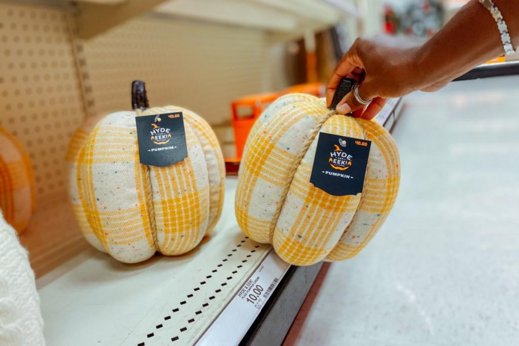large harvest fabric pumpkins hyde & eek