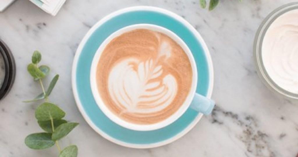 cup of crema e aroma coffee from lavazza