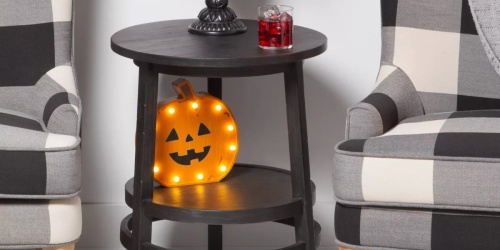 Boo-tiful Wooden Light-Up Halloween Decorations Only $15 at Target