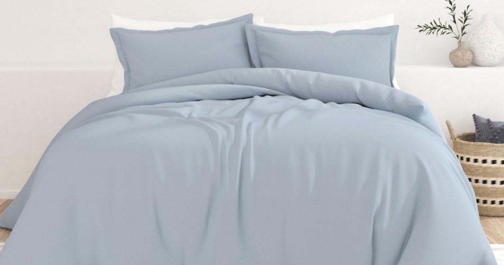 light blue duvet set