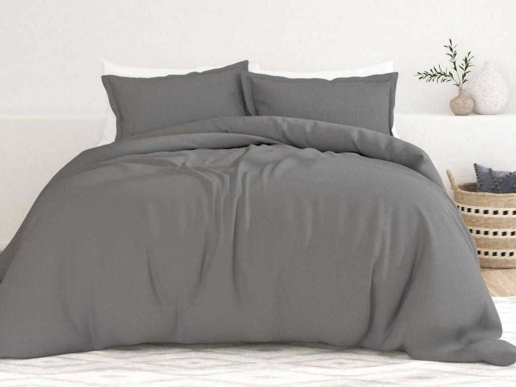 grey 3 piece duvet set
