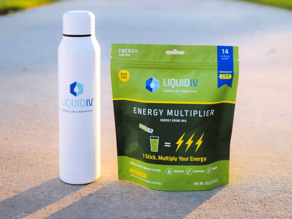 Liquid I.V. Hydration Multiplier Matcha and Green Energy Blend Lemon Ginger Flavor 48-Count
