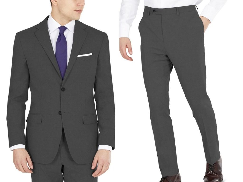 macy's dkny men's suit jacket and suit pants