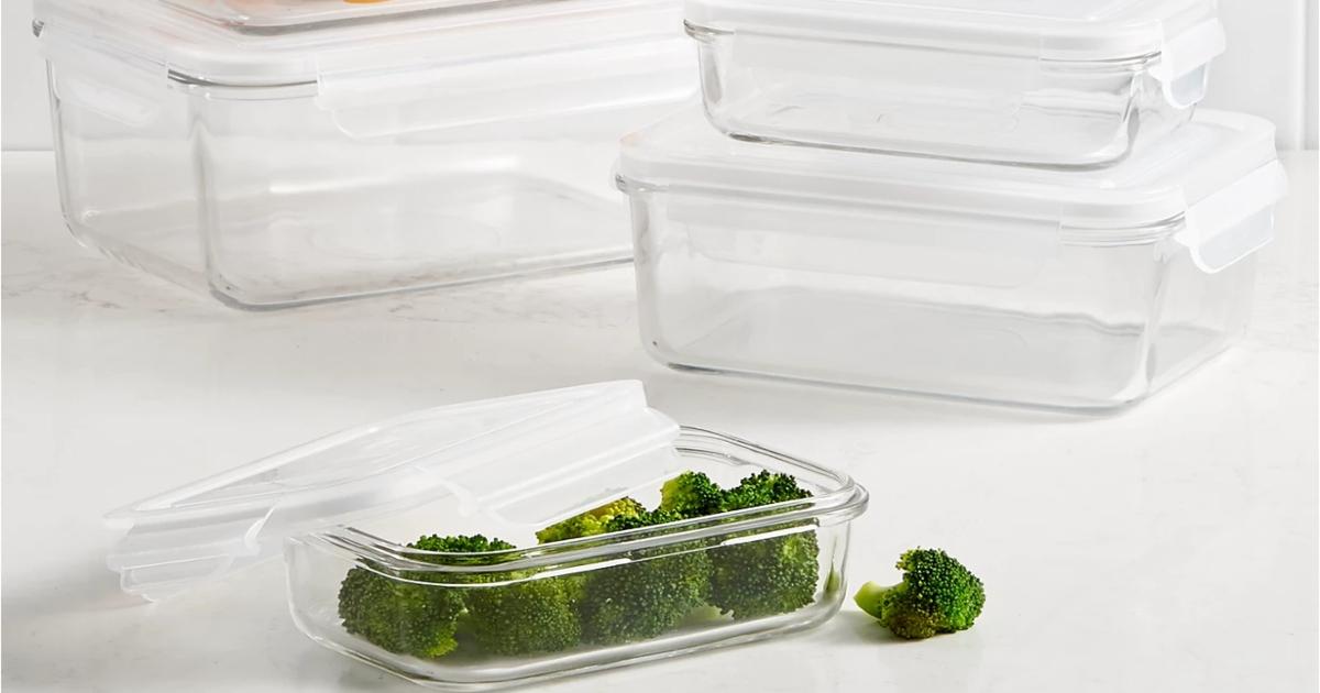 Glass Food storage set with lids