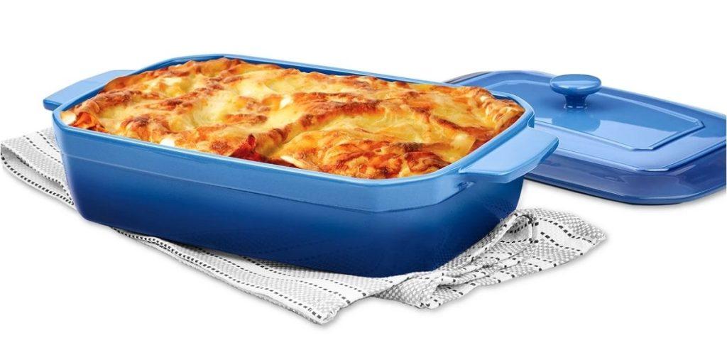 martha stewart lasagna pan in blue