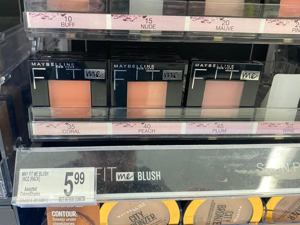 maybelline fit me blush on shelf at walgreens