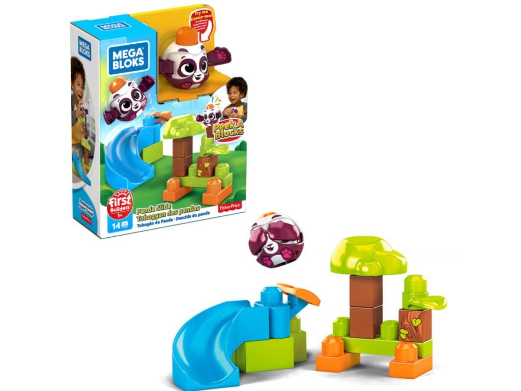 mega bloks panda slide building set