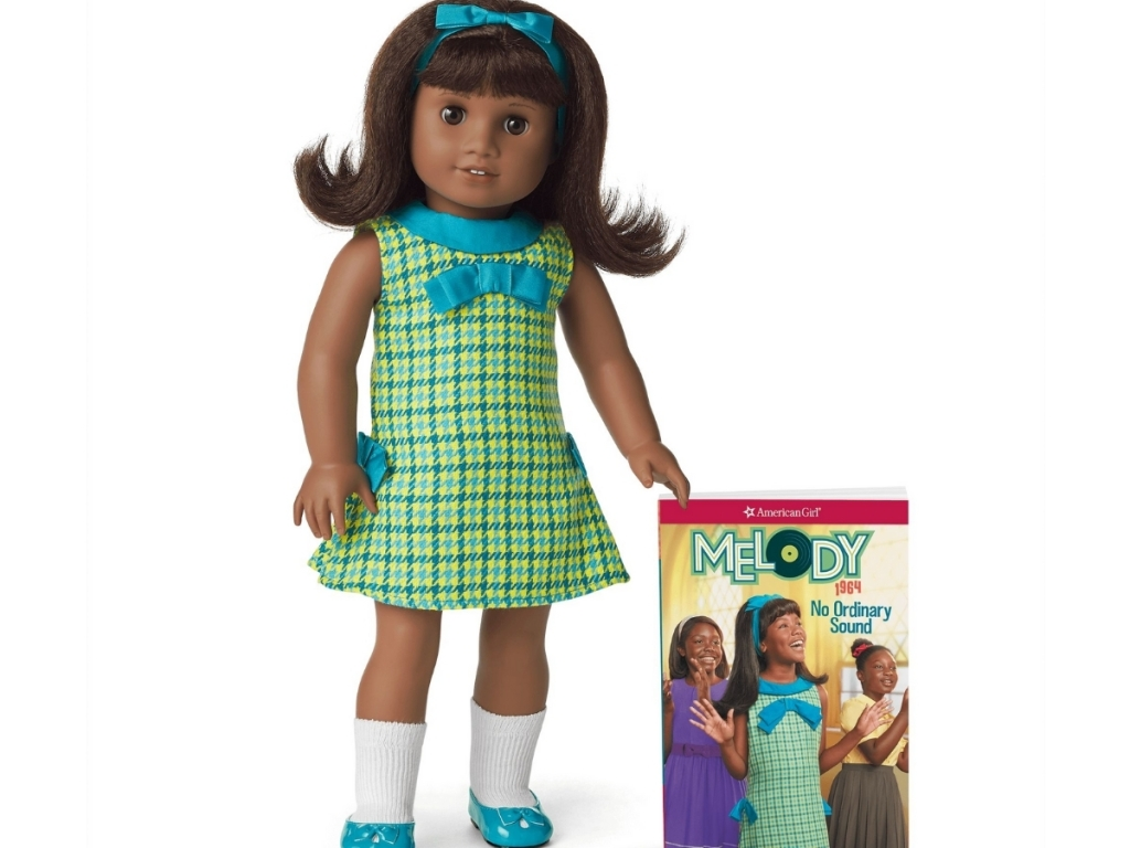 melody american girl doll with book