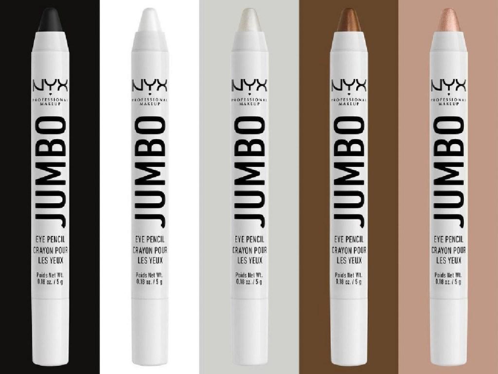 jumbo eye makeup pencils in five shades